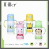 food grade keep hot and cold children water bottle 250ml vacuum flask kids insulated thermos