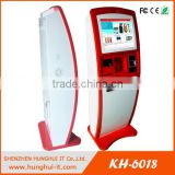 Free standing Touch screen barcode scanner ID card scanner ticket vending machine