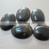 Black Gemstone Beads and Cabochons-Fancy Jasper 25mm round and oval calibrated cabochon for jewelry making-semi precious stones