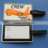 ABS Back 3D PVC Airplane Name ID Luggage Tags