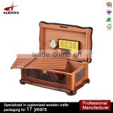Luxury made in china wooden cabinet cigar humidor parts for packing box