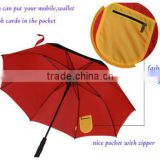 Wholesale High quality windproof auto open straight umbrella double layer and ODM for Promotional and Branded Golf Umbrellas