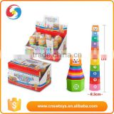 New arrive baby toddler stacking nesting tower cups colorful stack cup baby educational toy