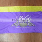 Embroidered crown double sides flag with two grommets