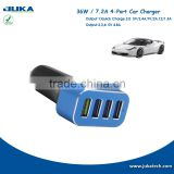 car charger adapter 4 USB car charger, 5V/2.4A, 9V/2A, 12V/1.5A Qualcomm Quick Charge 2.0