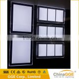 A3 LED Poster Ligth Box Frameless LED Illuminated Advertising Board Real Estate Agents Window Display Indoor Signboard