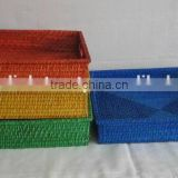 Bamboo Rattan Square Tray