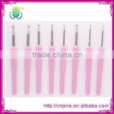 Plastic handle corlorful and useful hook needle