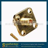 SMA Solder Jack Flange Connector for .086'' Cable surface mount pcb sma edge connector