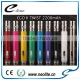100% Original premium kit mini Ego II Twist 2200mah battery e cigarette ego ce4