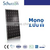 TOP 10 solar panel supplier in China!High quality and efficiency pv module 260w mono solar module