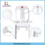White Outdoor Stackable Plastic Chairs