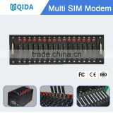 16 port gsm multi sim card modem Qida QS161 new update stk recharge sms modem with at commands software application