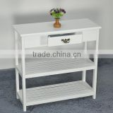 Factory Direct Wholesale Cheap Living Room Furniture 1 Drawer 2 Shelves Wooden Shoe Rack