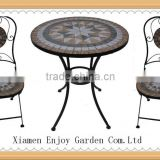 outdoor mosaic bistro set table