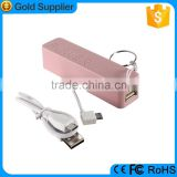 best selling item keychain build in micro usb cable mili power bank for android mobiles
