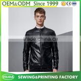 High quality mens fashion leather jacket men's windbreaker waterproof zipper PU leather jacket