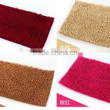 mat customized size 40x60 50x80 60x90 40x120 70x140cm anti-slip chenille yarns mat with 1cm pile 3cm pile