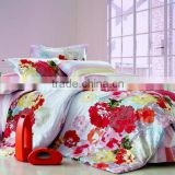 100% cotton bed sheet set duvet cover comforter set/elegant design/manufacturer