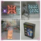 Flower arrangement materials Led under vase lighting 4 inch single color china decoration wedding