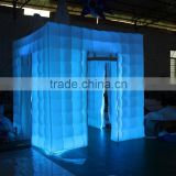 LED inflatable octagon photo booth enclosure wall for sale