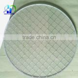round clear and colored safety wired glass pattern wired glass