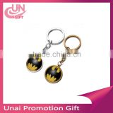 Key Ring Key Chain Rhodium Plated Round Split Keychain Wholesale Promotion Gife Jewelry