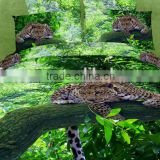 four six 3D animal reactive printing king size full size twin size queen size bedding set