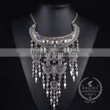 high quality vintage rhinestone chunky statement necklace tin alloy fashion women pendant necklace 6390150