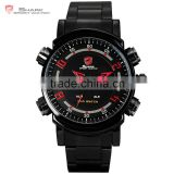 SHARK Sport Men Multiple Function Japan Movement Large Dial LED Display Digital Wrist Watches