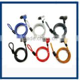 color coated desktop/laptop computer lock cable Notebook Lock and Security Cable