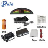Universal Parking Sensor Car Auto Rear Assist Backup Reversing Radar Buzzer Alarm Kit Monitor System with Four Sensors