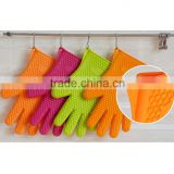 Kitchen Cooking Gloves Microwave Oven Non-slip Mitt Heat Resistant Silicone Glove Cooking Baking BBQ Oven Pot Holder Mitt
