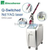 Optimal Medical CE/TGA approved Q-Switched Nd:yag laser therapy machine with dual-wavelength switching of 1064nm & 532nm
