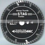 (STAG)Deep teeth turbo small diamond cutting blade for fast cutting granite