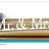 Freestanding Home Decor Mr & Mrs Wood Word Sign