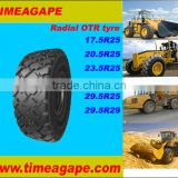 Radial Off-the-Road(OTR) Tire / all steel radial otr tyre 17.5R25 20.5R25 23.5R25 29.5R25 29.5R29