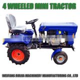Agriculture machinery two wheel drive tractors for sale, new made cheap 12hp 4wd tractors with attachments for wholesale~