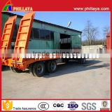 Full Type Lowbed Flatbed Drawbar Truck 3 Axles Pallet Semi Trailer For Tractor Agriculture