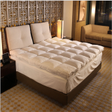 High Quality Ultra Soft White Goose Feather Memory Foam Quilted Mattress Topper