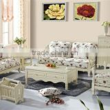 Morden Design Living Room Fabric Sofa Furniture ,Korea Garden Style Livingroom Sofa Set,Graceful Wooden Sofa Set