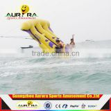 Factory price inflatable water sport inflatable flying fish tube towable banana boat for sale
