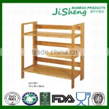 China Manufacturer 4-Tier Deluxe Natural Bamboo Shoe Storage Rack
