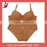 hot sell style/women bra and panty set with lace/popluar in America
