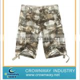 Boys baggy military cargo shorts in 100%cotton