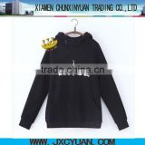 high quality cutom printed women pullover hooded sweatshirt for importing clothes