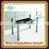 hot selling new design clear glass bent glass dining table