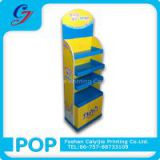 Sanitary napkin customized floor cardboard display stand shelf
