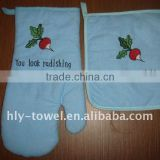 hooded kitchen gloves with super heat resistant with embroidery