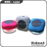 Electronic gadget 2015 smart mushroom shape wireless shower waterproof bluetooth speaker with suction cup